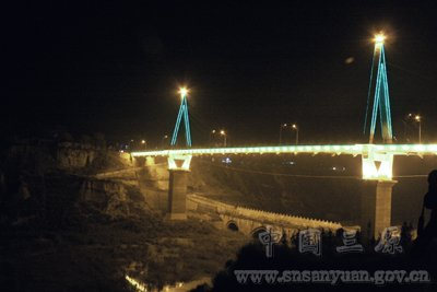 三原美景:龙桥夜色