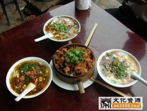 岐山县美食:碗蒸豆花