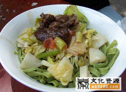 岐山县美食:菠菜面
