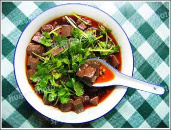 淳化县美食:辣子蒜羊血