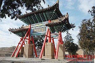佳县旅游景点:白云山木牌楼