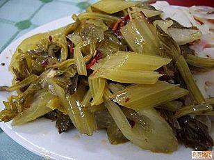 宁强县民间小吃:浆水菜