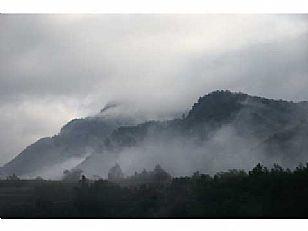 商南县金丝峡晨雾