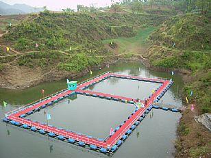 洛南县自然风光:抚龙湖山庄--人工钓场