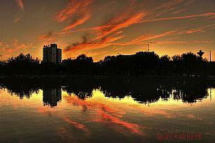 临渭区自然风光:�Y河公园