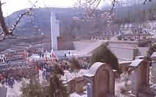 """延安市旅游景点:""""四、八""""烈士陵园"""