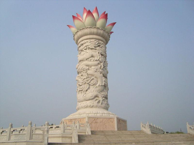 华山 宝莲灯雕塑