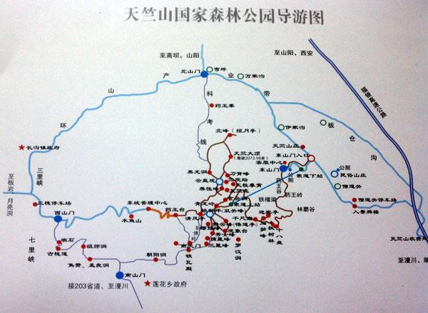景点分布导游图_陕西山阳县旅游地图大全