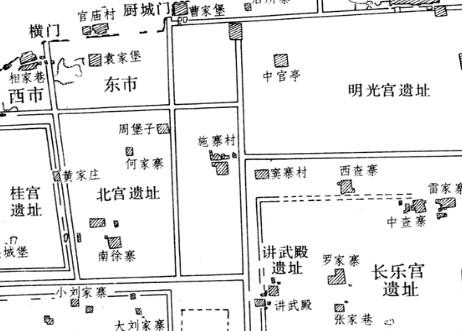 汉长安城勘测图[图]