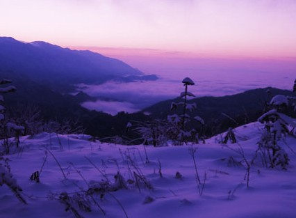 镇坪县华龙雪景[图]