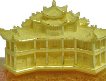 古汉台纯金立体雕塑[图]